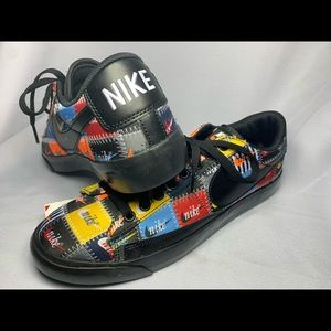 Nike Low Patchwork Men's Size 9 -Black Multi-color